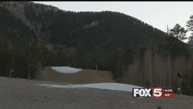 Lee Canyon staff started making snow as temperatures have dropped.