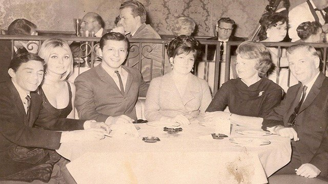 Jay Sebring, Sharon Tate, Peggy and Tony DiMaria in Las Vegas before the murders.