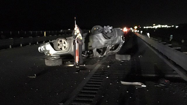 The Nevada Highway Patrol says one man is dead following a crash on Interstate 15 north of Las Vegas. (Photo: NHP)