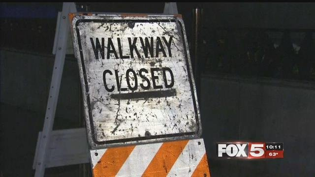 People on the Strip have been having issues with four different pedestrian bridges under construction. (FOX5)