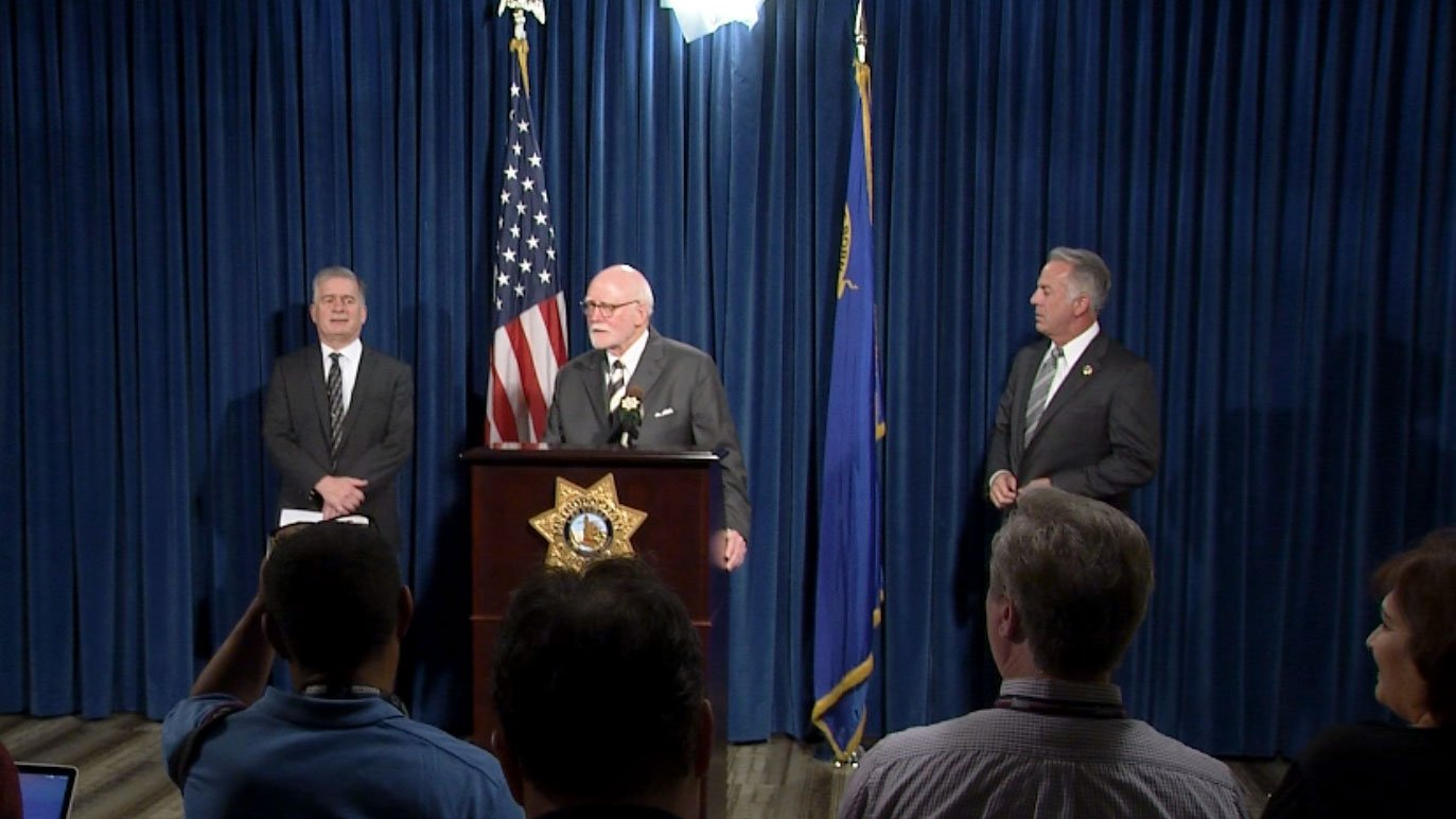 Metro held a press conference on the findings of a year-long study involving body cameras. (Jason Westerhaus/FOX5)