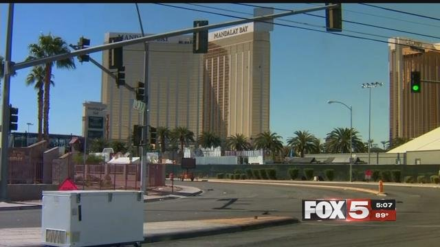 An exterior view of the Mandalay Bay hotel (FOX5).