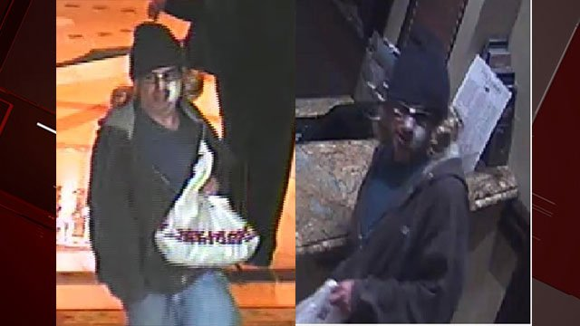 Police released two surveillance stills of the gunman who robbed a Bellagio resort and casino poker cage Nov. 28, 2017 (LVMPD / FOX5).