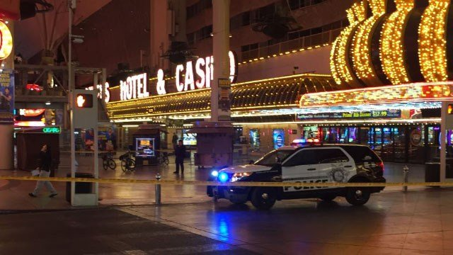 Metro at scene of shooting on Fremont Street in downtown Las Vegas on Nov. 29, 2017. (Luis Marquez/FOX5)