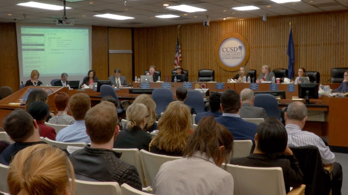 The Clark County school board approved another round of budget cuts during a meeting on Nov. 30, 2017. (CCSD)