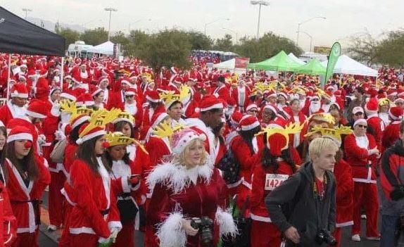 Runners participate in the Great Santa Run. (File/FOX5)