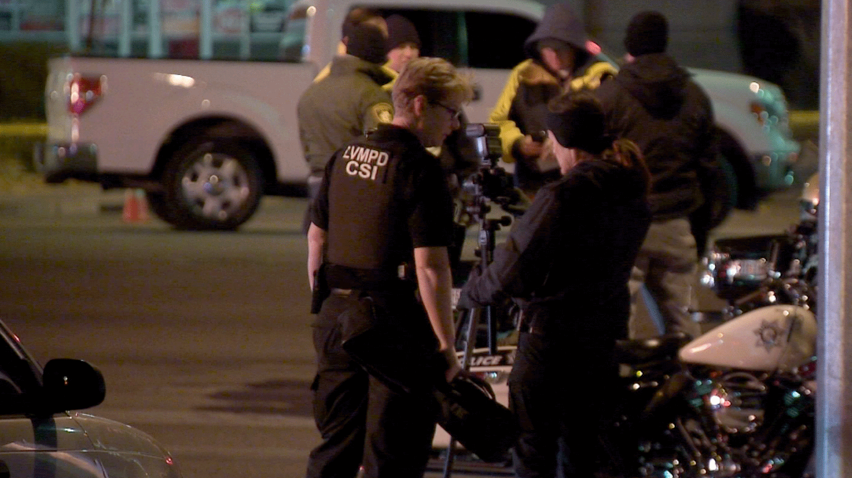 Investigators at the scene of a crash on Dec. 4, 2017. (Roger Bryner/FOX5)