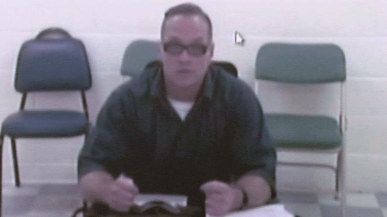 Scott Dozier appears by a videoconference in court on Dec. 5, 2017. (Jason Westerhaus/FOX5)
