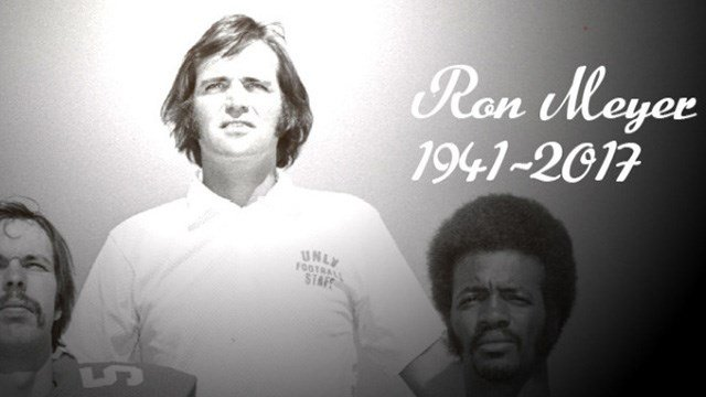 The winningest coach by percentage in UNLV football history has died. Ron Meyer was 76