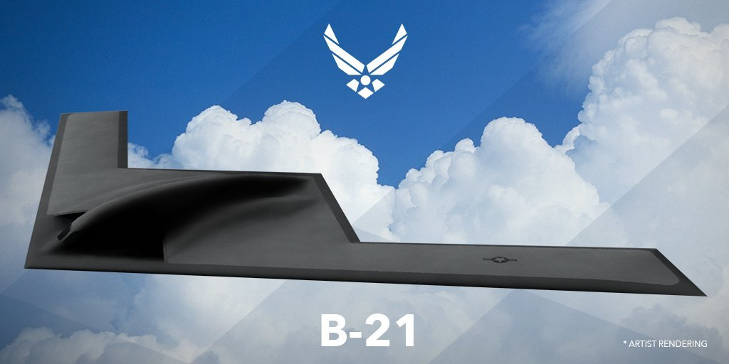 U.S. Air Force rendering of B-21 bomber
