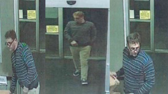 Surveillance images capture robbery suspect in NW Las Vegas on Oct. 30. (Courtesy: LVMPD)