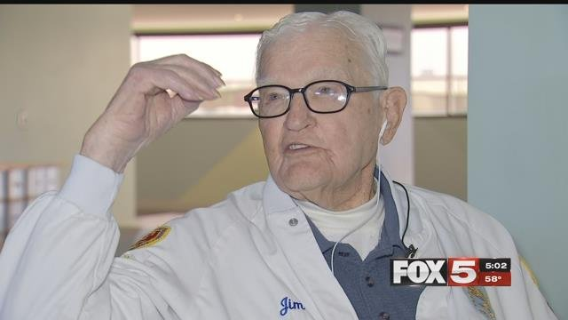 At 104-years-old, Lieutenant Jim Downing is the second-oldest living survivor of the attack. (FOX5)