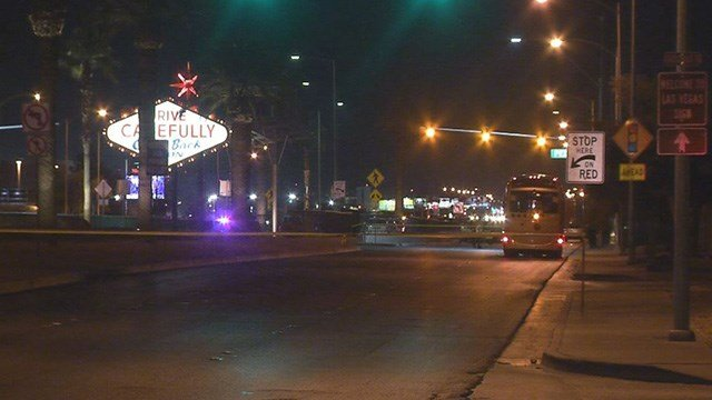 A motorcyclist was killed in a crash with a limousine Thursday near the Welcome to Fabulous Las Vegas sign on Las Vegas Boulevard, according to Metro Police.