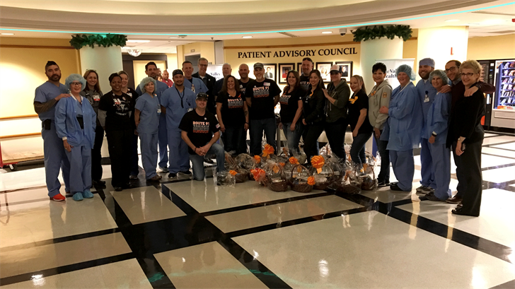 Survivors of 1 October delivered baskets to say 'thank you' for their response. (Jason Westerhaus/FOX5)