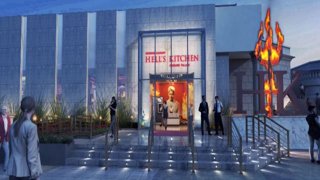 Screenshot of Hell's Kitchen restaurant proposed entrance. (Caesars Entertainment)