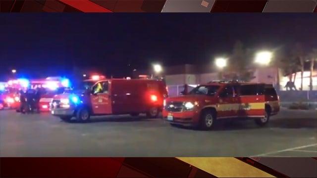 HAZMAT crews respond to a chemical leak at food processing plant at 123 Colorado Avenue on Dec. 13, 2017. (Photo: Las Vegas Fire & Rescue)