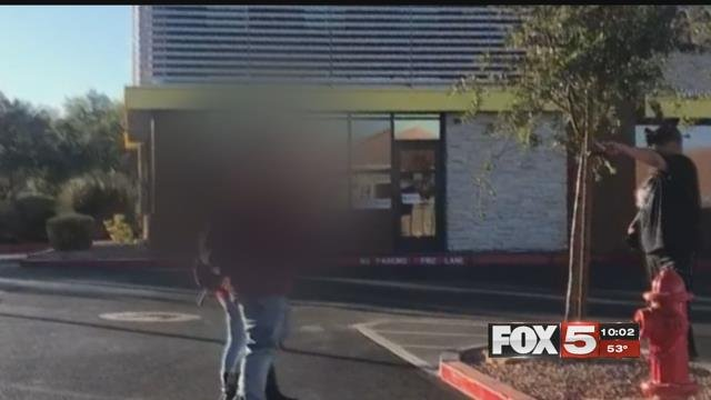 A 47-year-old man was arrested for pulling a gun on a teenager in a McDonald's parking lot in HendersonTuesday.