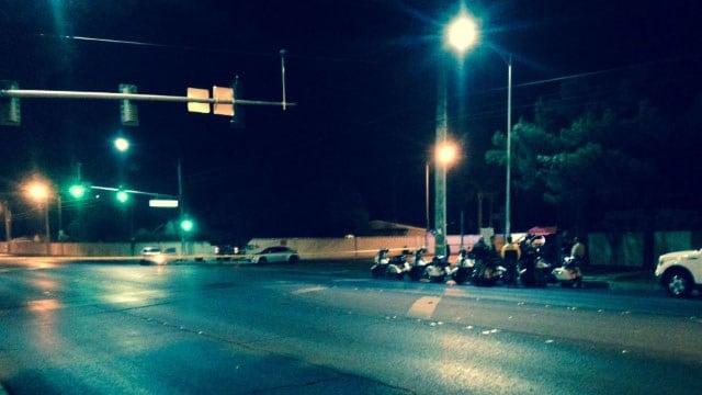 Metro at the scene of a fatal crash in east Las Vegas on Dec. 13, 2017. (Roger Bryner/FOX5)