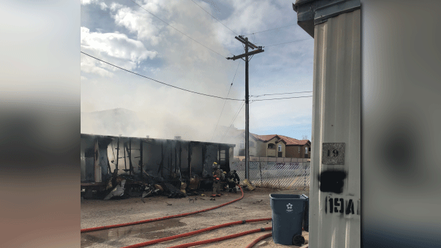 Cause of las vegas mobile home fire under investigation for Las vegas home source