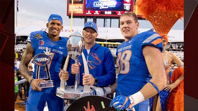 Boise State beat Oregon 38-28 in the 2017 Las Vegas Bowl on Saturday. (Photo: Boise St. University)