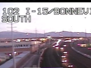 A FASTCam shot of Interstate 15 at around 6:30 a.m. Monday.