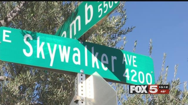 A neighborhood in southeast Las Vegas features several streets with Star Wars names.(FOX5)