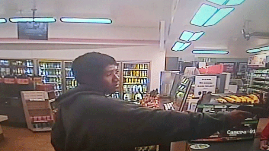Metro released images of an armed robbery suspect. (Source: LVMPD)