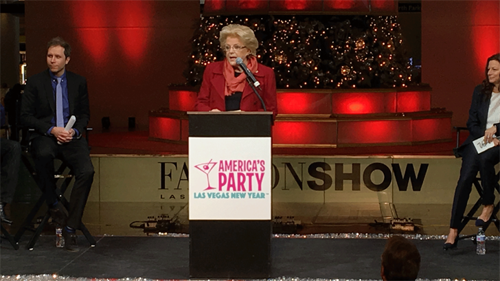Mayor Carolyn Goodman speaks at a press conference for America's Party. (Jason Westerhaus/FOX5)
