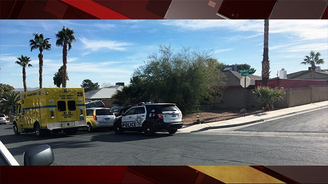 Two bodies were discovered inside of a home in east Las Vegas on Dec. 22, 2017. (Photo: Jason Westerhaus/ FOX5)