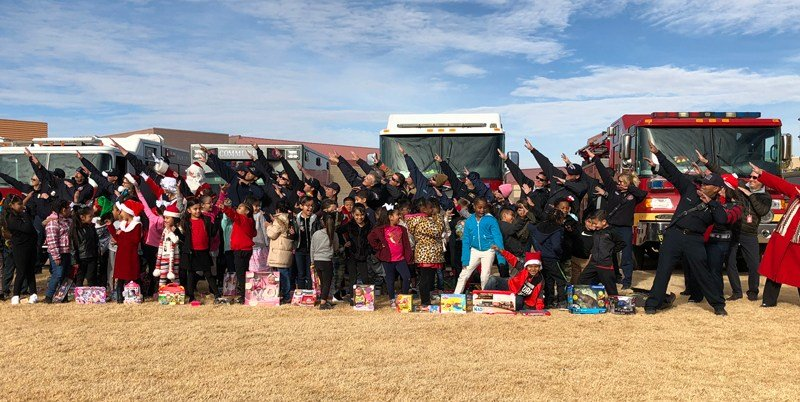 The Firefighters of Southern Nevada Burn Foundation delivered presents to elementary school students Dec. 22, 2017. (Photo: Dylan Kendrick/ FOX5)