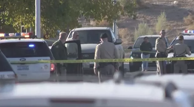 Metro Police said three people were shot inside a home near Tropicana Avenue and Highway 95 Friday afternoon. (Roger Bryner/FOX5)
