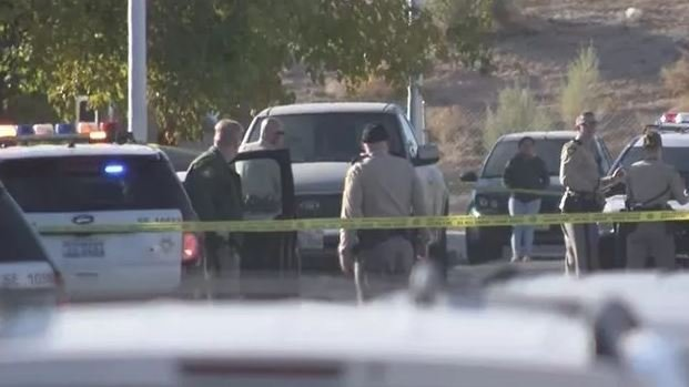 Metro police said three people were shot inside a home near Tropicana Avenue and US 95 on Dec. 22, 2017. (Roger Bryner/FOX5)