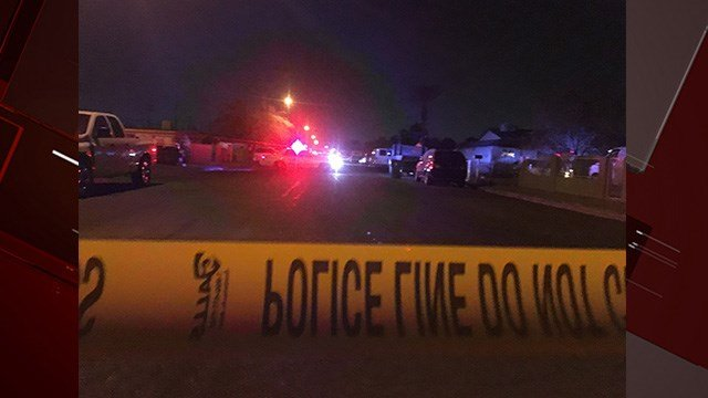 NLVPD investigated a triple homicide on Carroll Street Thursday. (Photo: Austin Turner / FOX5)