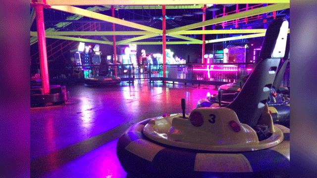 Bumper cars are available at Glowzone Las Vegas. (Mike Doria/FOX5)