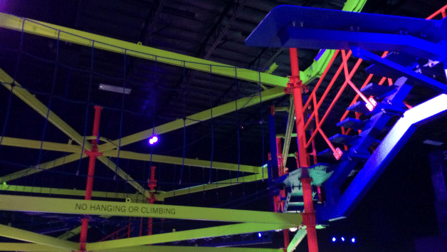 Parents can play for free at Glowzone with the purchase of a child pass for a limited time. (Mike Doria/FOX5)