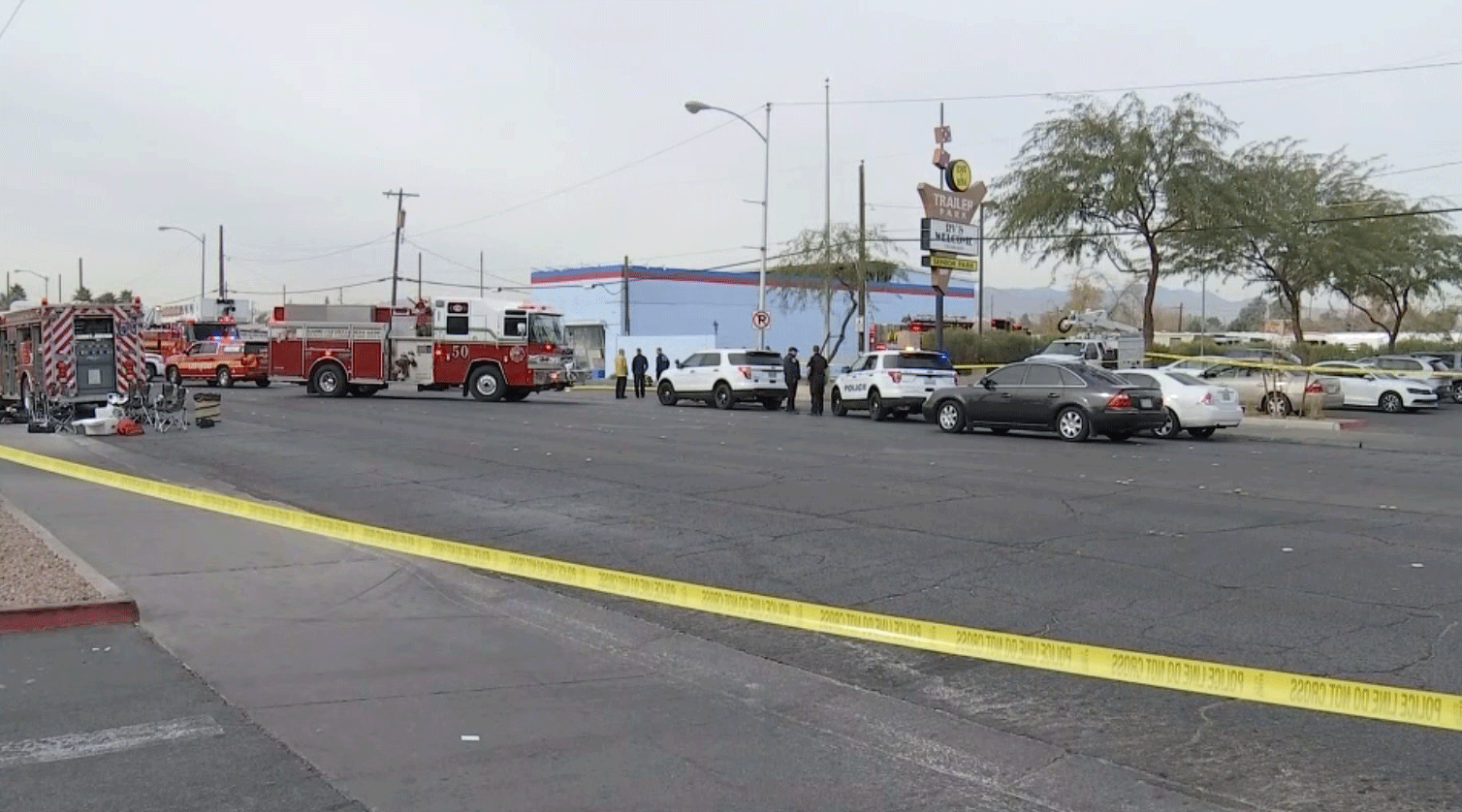 One person died in a fire in North Las Vegas on Jan. 2, 2018. (Brad Boyer/FOX5)