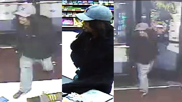 Surveillance images of robbery suspect on Dec. 25, 2017. (Courtesy: LVMPD)