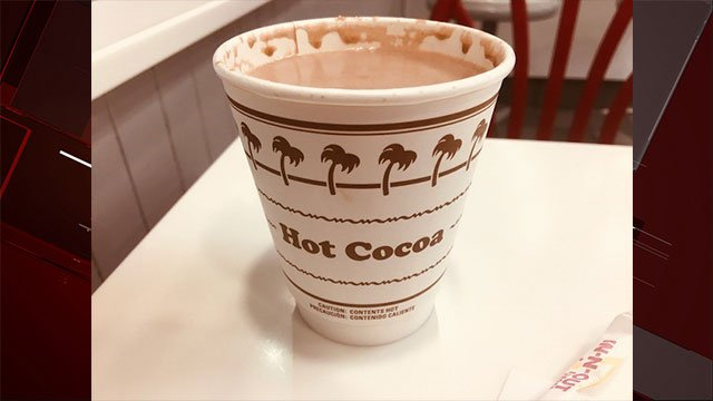 In-N-Out added the new hot cocoa drink to it menu (FOX5 / Joe Nelson).