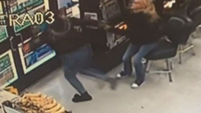 A valley woman said her rent money was snatched out of her hands at a convenience store off Boulder Highway and Tropicana, but it was all caught on camera.