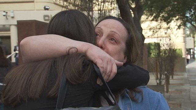 Kirstin Blaise Lobato, cleared in 2001 slaying, was freed in Las Vegas Wednesday. (Ray Arzate / FOX5)