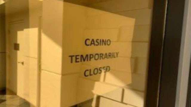 Sign posted at the Lucky Dragon hotel-casino on Jan. 4, 2018. (Brad Boyer/FOX5)