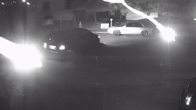 Metro police said they're searching for a dark minivan seen in this photo. (Photo: LVMPD)