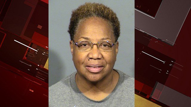 Las Vegas thrift shop volunteer Frances Stringfellow was arrested for leaving threatening messages and harassing other volunteers. (Photo: LVMPD)