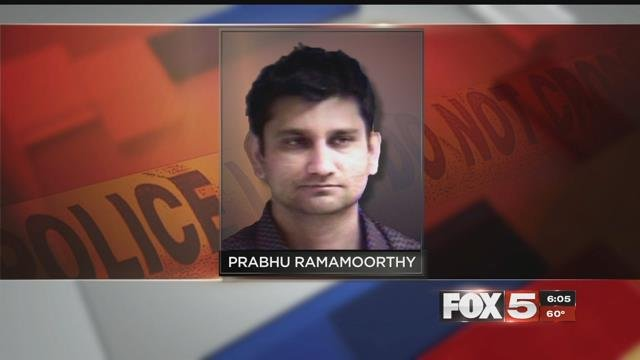 Prabhu Ramamoorthy is charged with sexually assaulting a woman on a plane from Las Vegas.