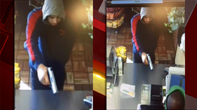 Police released images of a robbery suspect who asked for a cookie before demanding money. (Source: LVMPD)