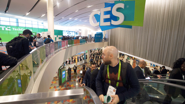 Attendees were captured at the Consumer Electronics Show on Jan. 10, 2018. (Sam Morris/Las Vegas News Bureau)