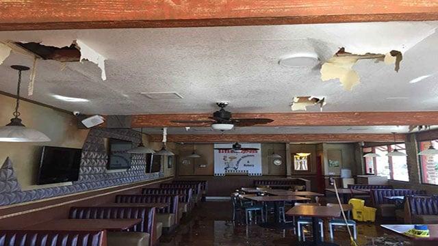 Havana Express needs extensive repairs after rain water flooded the entire restaurant (Adam Herbets / FOX5).