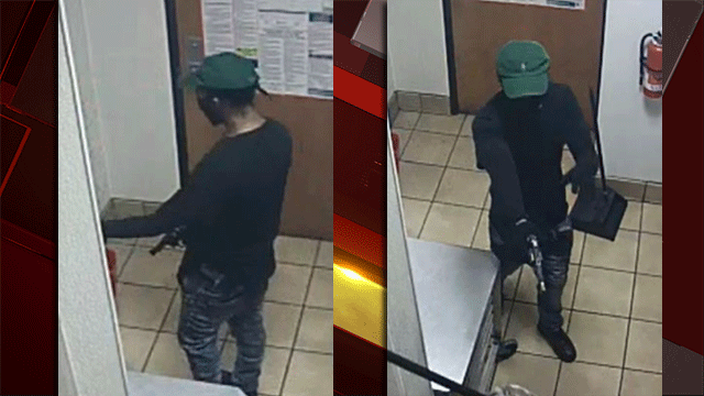 Police released images of a man suspected of robbing a business
