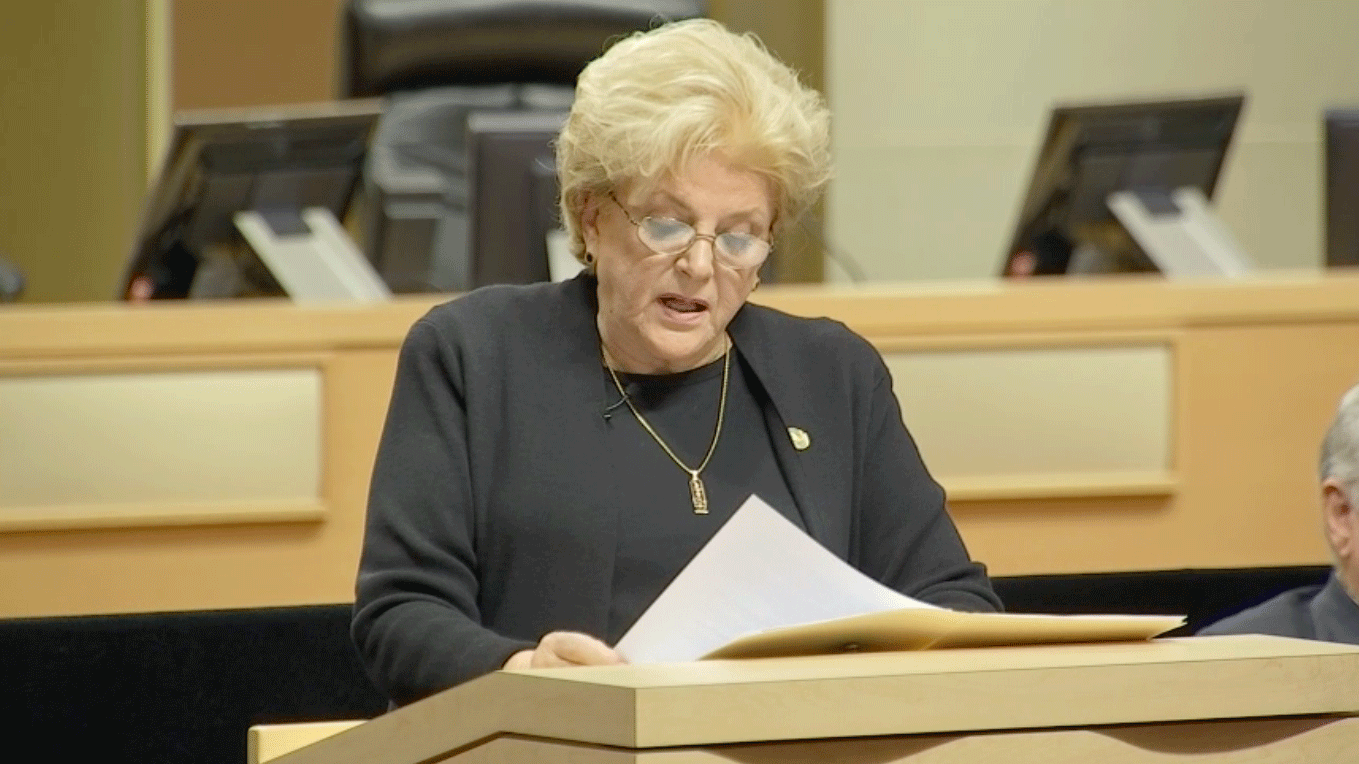 Mayor Carolyn Goodman delivered the State of the City address on Jan. 11, 2018. (Kurt Rempe/FOX5)