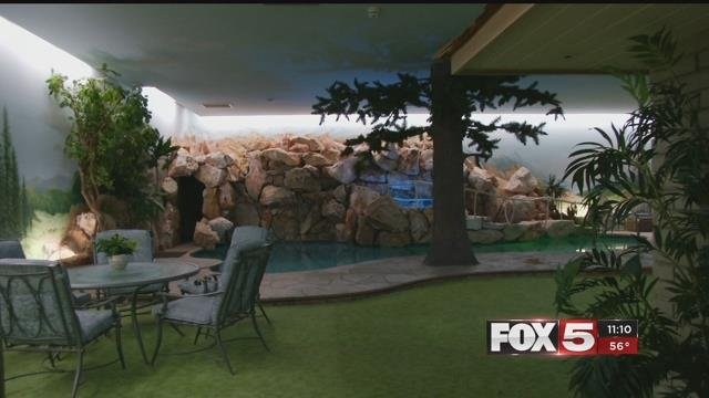 Las Vegas' only underground bunker features a 2-bedroom, 3 bathroom home with a pool (FOX5).